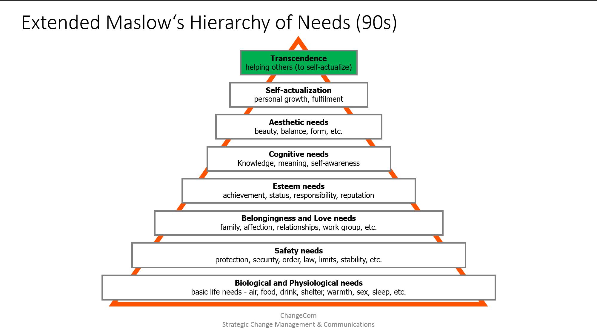 Maslow Hierarchy Essay Sample